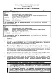 1 Application No. - The Royal Borough of Windsor and Maidenhead