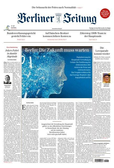 Berliner Zeitung 14.01.2020