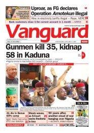15012020 - Gunmen kill 35, kidnap 58 in Kaduna