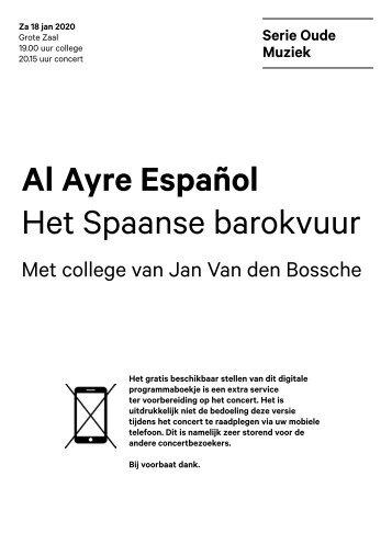 2020 01 18 Al Ayre Espanol