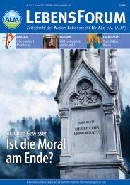 ALfA e.V. Magazin – LebensForum | 121 1/2017
