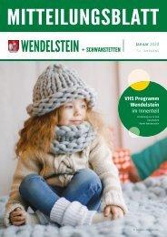 Mitteilungsblatt Wendelstein + Schwanstetten - Januar 2020