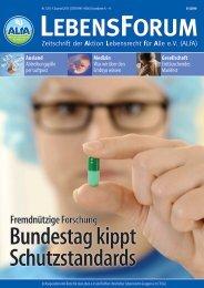 ALfA e.V. Magazin – LebensForum | 120 4/2016