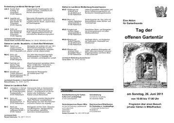Tag der offenen gartent r kreisverband f r gartenbau und - Gartenbau ansbach ...