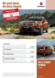 SX4 S-CROSS HYBRID Preise, Ausstattung, technische Daten