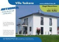 Rothdach Bau Villa Toskana