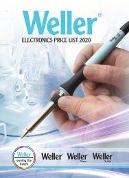2019 WELLER ELECTRONICS CATALOGUE