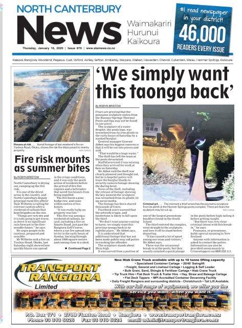 North Canterbury News: January 16, 2020