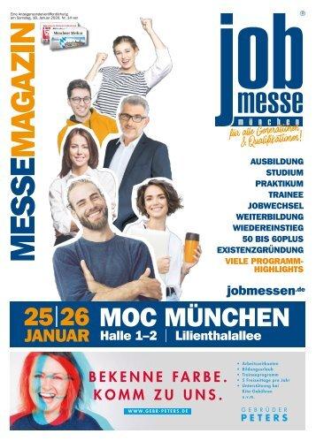 Das MesseMagazin zur 12. jobmesse münchen