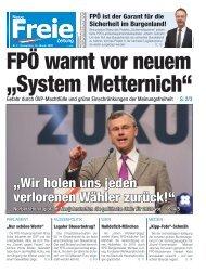 "FPÖ warnt vor neuem ""System Metternich"""