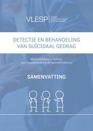 Detectie en behandeling van suïcidaal gedrag - Samenvatting