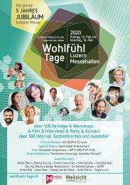 Wohlfühl-Tage Programmheft 2020 Jubiläum Luzern
