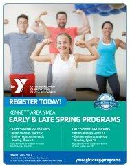 Kennett Area YMCA Program Guide - Spring 2020