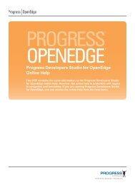 Progress Developers Studio for OpenEdge Online Help