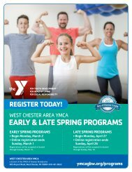 West Chester Area YMCA Program Guide - Spring 2020