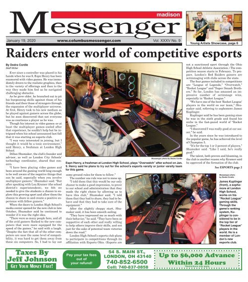 Madison Messenger - January 19th, 2020