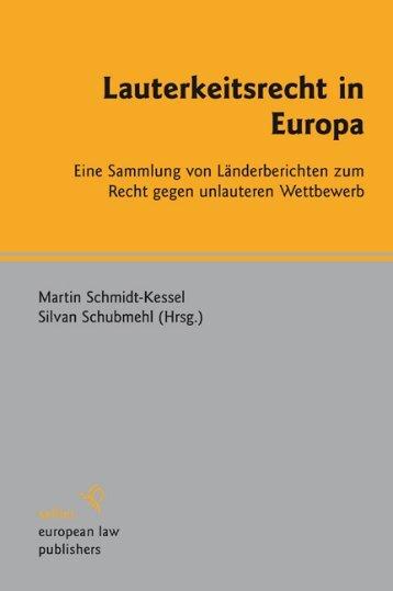 Lauterkeitsrecht in Europa - Peace Palace Library