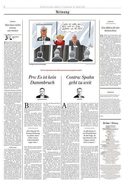 Berliner Zeitung 16.01.2020