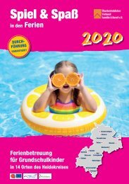 ÜBERBETRIEBLICHER VERBUND FAMILIE + BERUF HEIDEKREIS e.V. | Spiel + Spaß 2020
