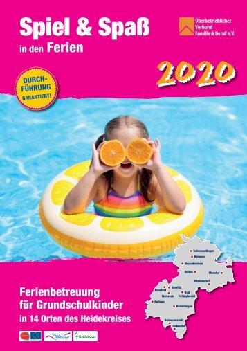 ÜBERBETRIEBLICHER VERBUND FAMILIE + BERUF HEIDEKREIS e.V.   Spiel + Spaß 2020