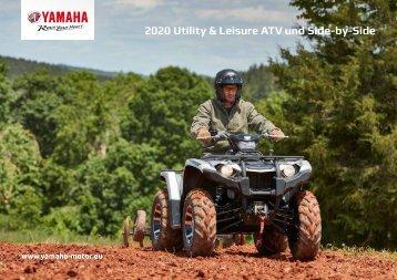 2020 Yamaha ATV und Side by Side Utility Modelle