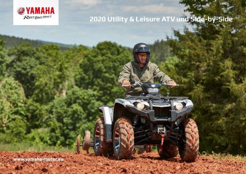 2020 Yamaha ATV und Side by Side Utility Modelle