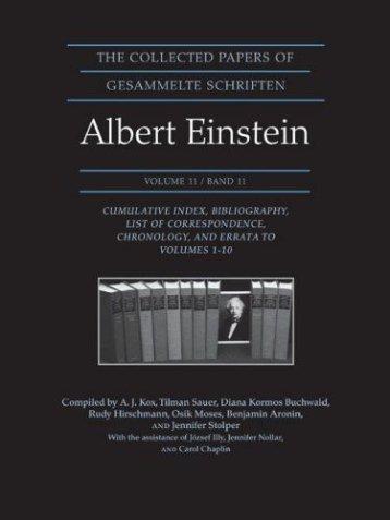 collected papers of Albert Einstein. - Fluxite
