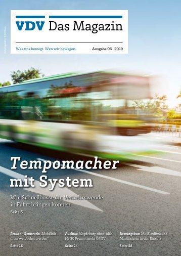 VDV Das Magazin Ausgabe 6/2019