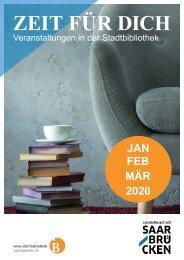 Zeit für Dich - Veranstaltungsbroschüre der Stadtbibliothek Saarbrücken
