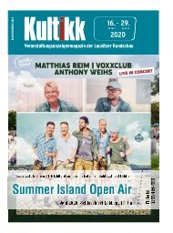 Kultikk Magazin vom 16.1.2020