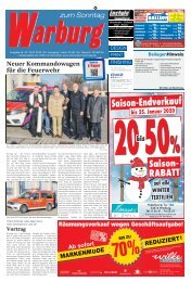 Warburg zum Sonntag 2020 KW 03