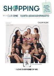 Club One kanta-asiakashinnasto maalis-huhtikuu KEVÄT 2020