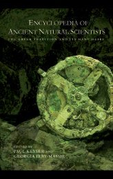 The Encyclopedia of Ancient Natural Scientists: The Greek tradition ...