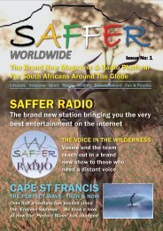 SAFFER Magazine Issue No: 01