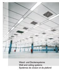 Wand- und Deckensysteme Wall and ceiling systems ... - New Ingenia