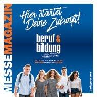 Der MesseMagazin zur beruf & bildung 2020 am 28./29. Februar im HCC Hannover
