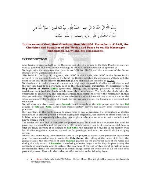 Sunnah Of Pregnancy