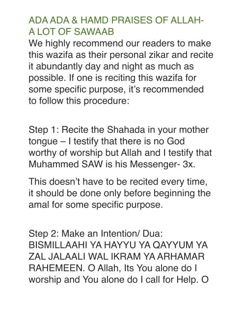 We highly recommend our readers to make this     - Momin Duas