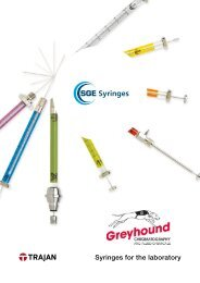 SGE/Trajan Syringes for the Laboratory