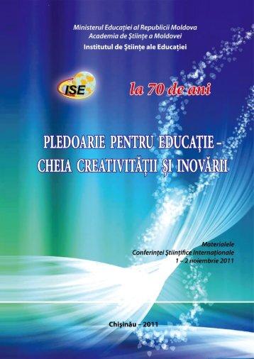 pledoarie pentru educatie - Institutul de Ştiinţe ale Educaţiei