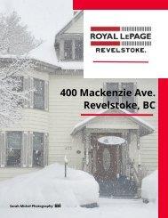 Listing Package - 400 Mackenzie Avenue