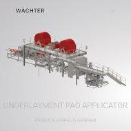 Underlayment Pad Applicator
