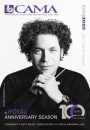 Monday, January 27, 2020—CAMA Presents the Royal Philharmonic Orchestra with Pinchas Zukerman—International Series at The Granada Theatre, Santa Barbara