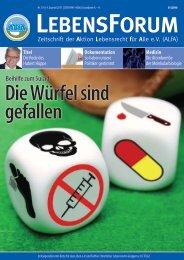ALfA e.V. Magazin – LebensForum | 116 4/2015