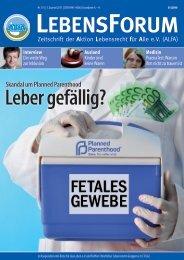 ALfA e.V. Magazin – LebensForum | 115 3/2015