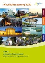 Haushalt 2020 der StädteRegion Aachen - Allgemeine Deckungsmittel