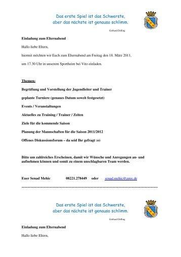 einladung zum elternabend - in der kita bleidenstadt!, Einladung