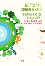 Meats and cured meats, how much do you really know. The Italian livestock model as an example of sustainability