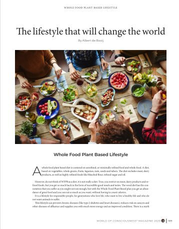 The lifestyle that will change the world