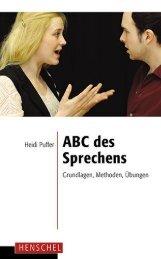 Leseprobe: ABC des Sprechens - Grundlagen, Methoden, Übungen